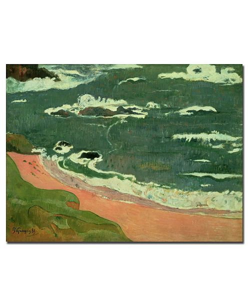 "Trademark Global Paul Gauguin 'Beach at Le Pouldu, 1889' Canvas Art - 47"" x 35"""