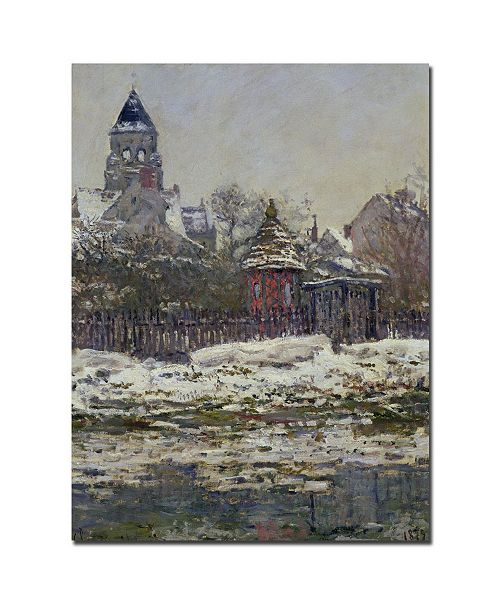 "Trademark Global Claude Monet 'The Church at Vetheuil 1879' Canvas Art - 47"" x 35"""