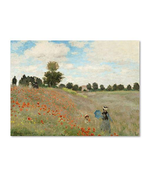 """Trademark Global Claude Monet 'Wild Poppies Near Argenteuil' Canvas Art - 32"""" x 24"""""""
