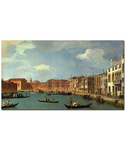 "Trademark Global Canaletto 'Canal of Santa Ciara, Venice' Canvas Art - 47"" x 30"""