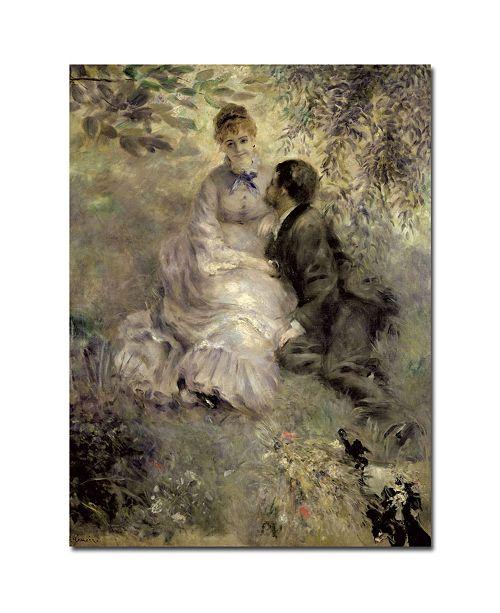 "Trademark Global Pierre Auguste Renoir 'The Lovers C.1875' Canvas Art - 47"" x 35"""