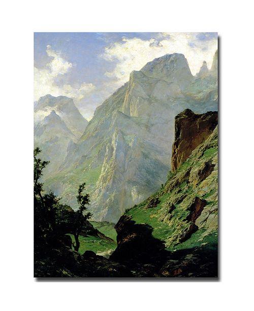 "Trademark Global Carlos de Haes 'Mountains in Europe, 1876' Canvas Art - 32"" x 24"""