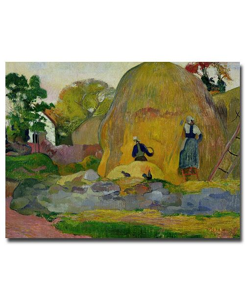 "Trademark Global Paul Gauguin 'Golden Harvest, 1889' Canvas Art - 47"" x 35"""