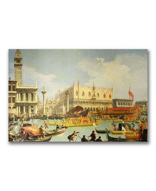 Canaletto 'The Betrothal of the Venetian Doge' Canvas Art - 24 x 16