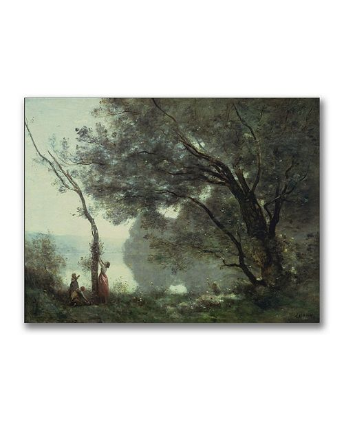 "Trademark Global Jean Baptiste Corot 'Recollections of Mortefontaine' Canvas Art - 24"" x 18"""