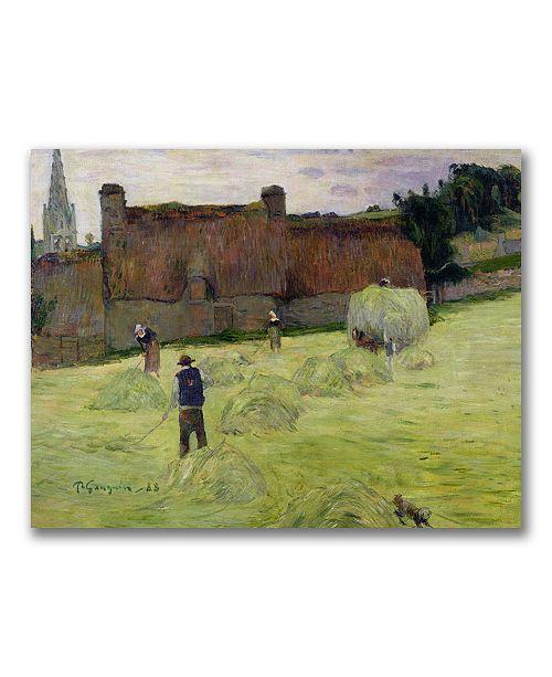 "Trademark Global Paul Gauguin 'Haymaking in Brittany' Canvas Art - 24"" x 18"""