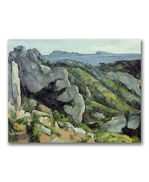 "Trademark Global Paul Cezanne 'Rocks at L'Estaque' Canvas Art - 32"" x 26"""