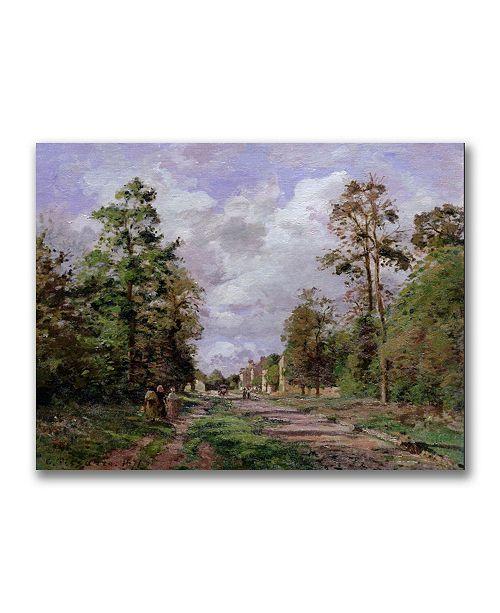 "Trademark Global Camille Pissarro 'The Road to Louveciennes Edge' Canvas Art - 32"" x 26"""