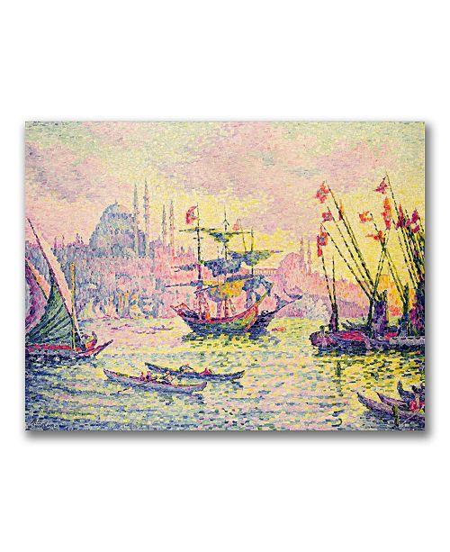 "Trademark Global Paul Signac 'View of Constantinople' Canvas Art - 47"" x 30"""