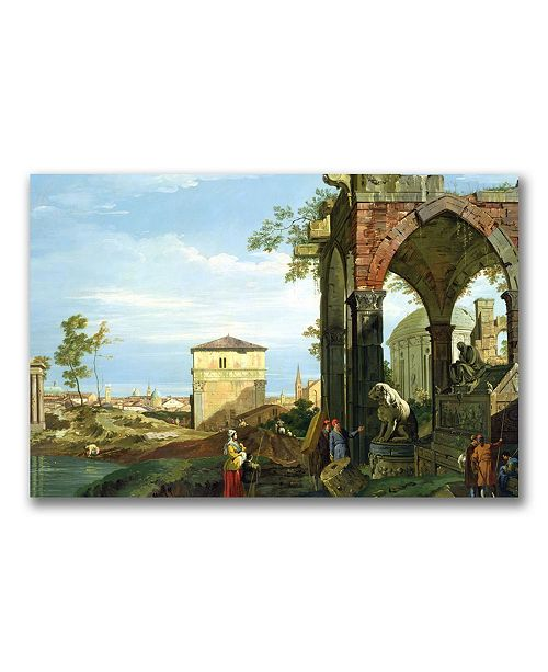 """Trademark Global Canaletto 'Capriccio with Motifs from Padua' Canvas Art - 47"""" x 35"""""""