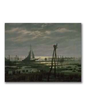 Caspar Friedrich Marshy Beach Canvas Art - 47 x 35