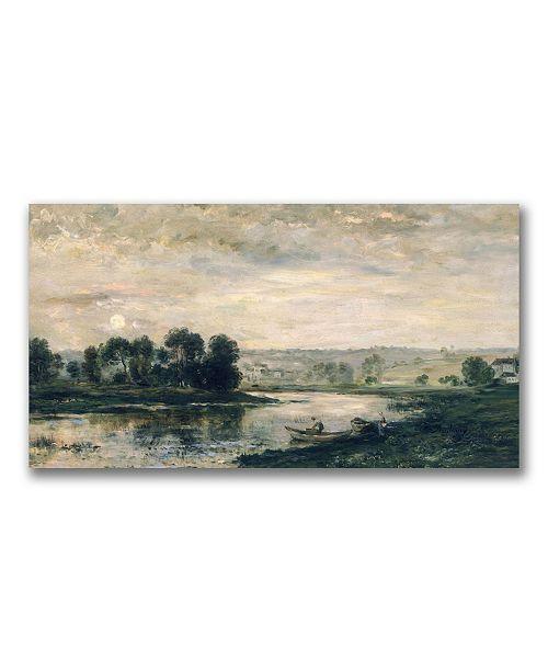 "Trademark Global Charles Daubigny 'Evening on the Oise' Canvas Art - 24"" x 12"""