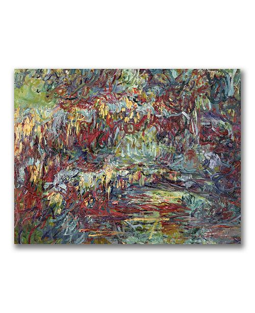 "Trademark Global Claude Monet 'The Japanese Bridge Giverny' Canvas Art - 24"" x 18"""