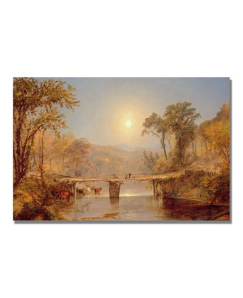 "Trademark Global Jasper Cropsey 'Indian Summer on the Delaware' Canvas Art - 32"" x 22"""