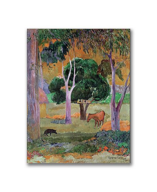 "Trademark Global Paul Gauguin 'Dominican Landscape' Canvas Art - 24"" x 18"""