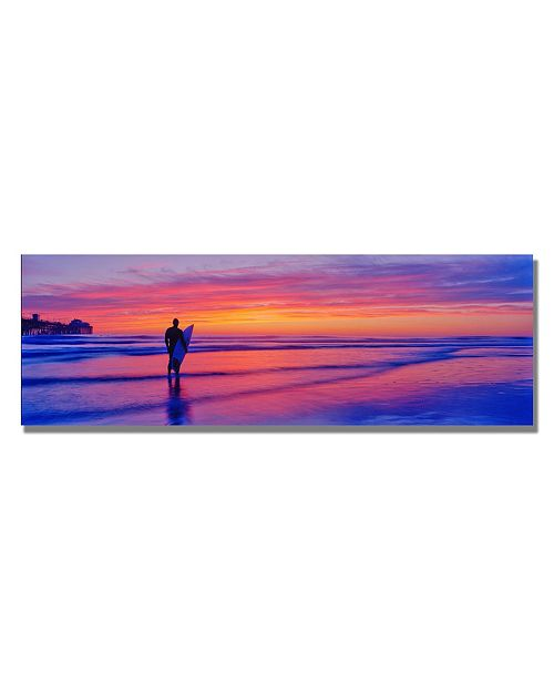 "Trademark Global Preston 'Evening Reflections' Canvas Art - 24"" x 8"""