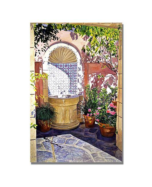 "Trademark Global David Lloyd Glover 'Watersounds' Canvas Art - 24"" x 16"""