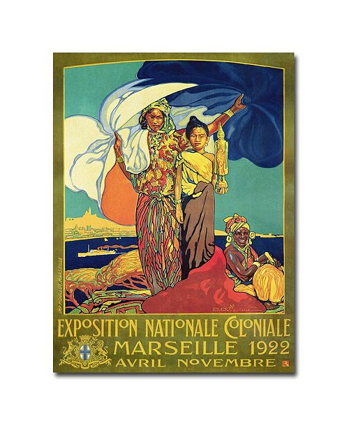 "Trademark Global David Dellepiane 'Exposition National Coloniale' Canvas Art - 47"" x 35"""