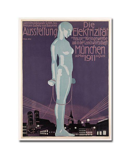 "Trademark Global Paul Neu 'Electricity Exhibition 1911' Canvas Art - 32"" x 24"""