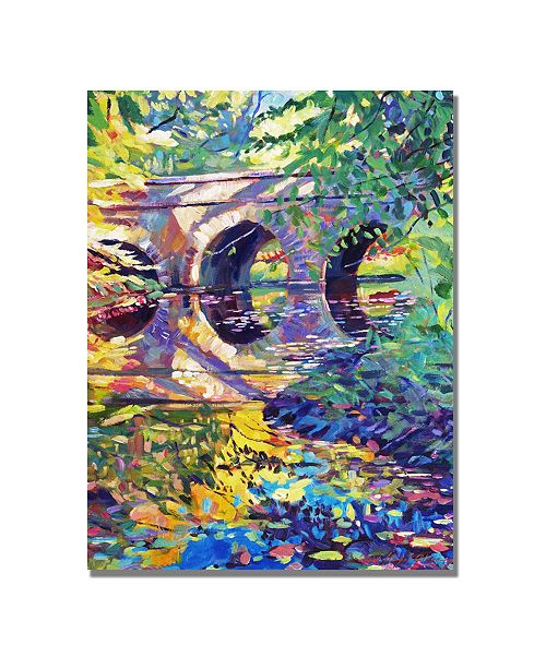 "Trademark Global David Lloyd Glover 'Stone Footbridge' Canvas Art - 32"" x 24"""