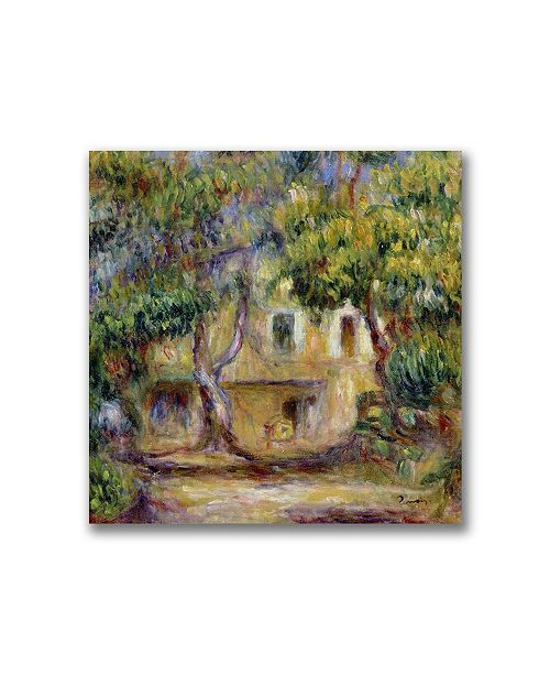 "Trademark Global Pierre Auguste Renoir 'The Farm at Les Collettes' Canvas Art - 24"" x 24"""