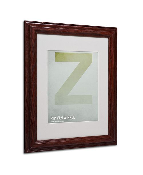 """Trademark Global Christian Jackson 'Rip Van Winkle' Matted Framed Art - 14"""" x 11"""""""