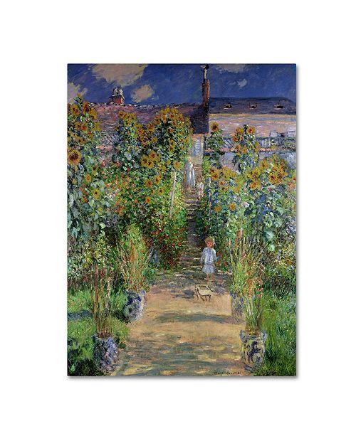 """Trademark Global Claude Monet 'The Artist's Garden at Vetheuil' Canvas Art - 32"""" x 26"""""""