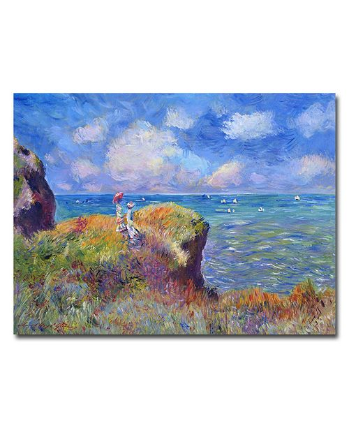 """Trademark Global David Lloyd Glover 'On the Bluff at Pourville' Canvas Art - 47"""" x 35"""""""