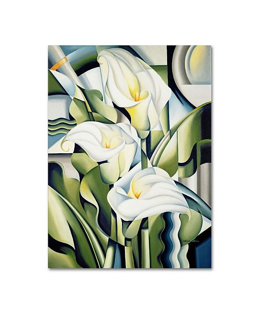 "Trademark Global Catherine Abel 'Cubist Lilies 2002' Canvas Art - 14"" x 19"""