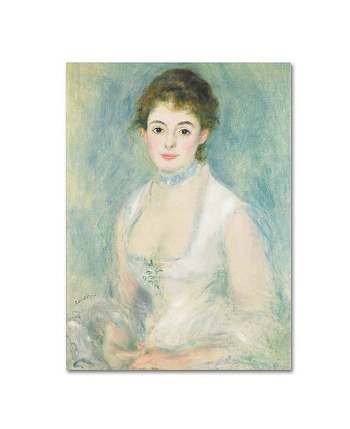 "Trademark Global Pierre Auguste Renoir 'Madame Henriot 1876' Canvas Art - 47"" x 35"""