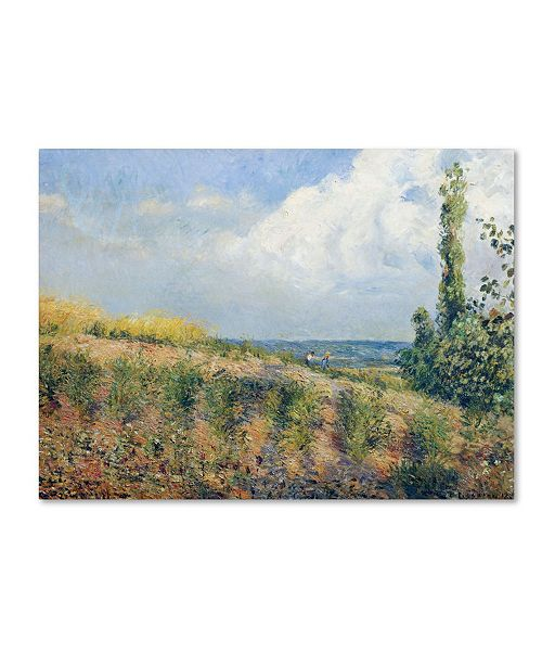 "Trademark Global Camille Pissarro 'The Approaching Storm 1877' Canvas Art - 14"" x 19"""