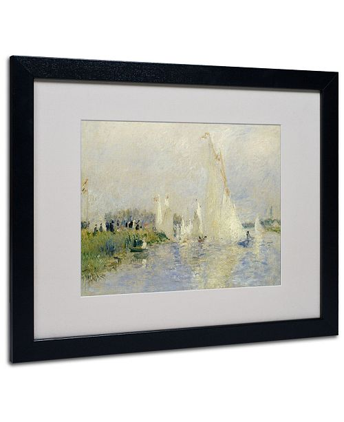 "Trademark Global Pierre Auguste Renoir 'Regatta at Argenteuil 1874' Matted Framed Art - 20"" x 16"""