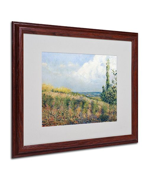 "Trademark Global Camille Pissarro 'The Approaching Storm' Matted Framed Art - 20"" x 16"""