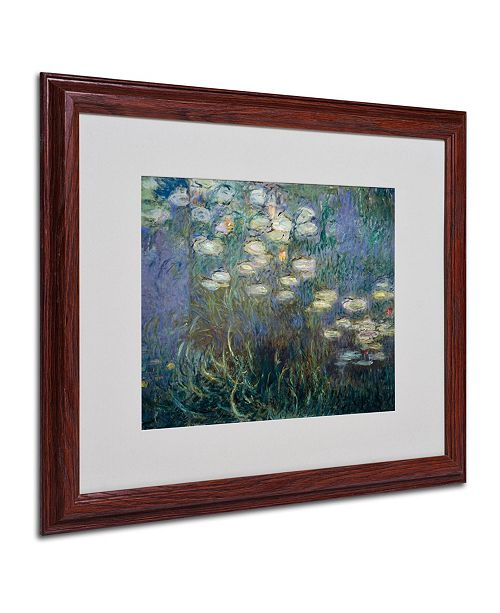 "Trademark Global Claude Monet 'Water Lilies 1840-1926' Matted Framed Art - 20"" x 16"""