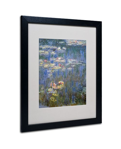 """Trademark Global Claude Monet 'Water Lilies IV 1840-1926' Matted Framed Art - 20"""" x 16"""""""