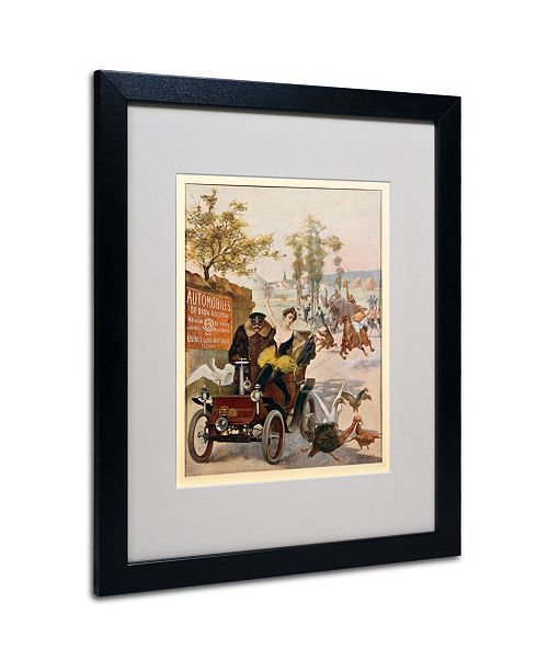 "Trademark Global 'Circus Star Kidnapped' Matted Framed Art - 20"" x 16"""