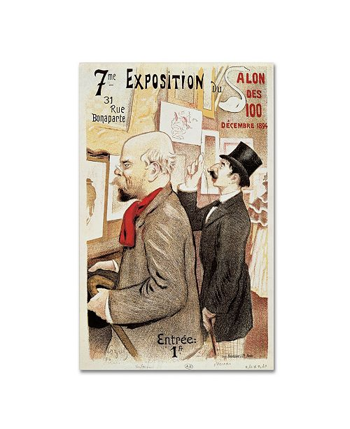 """Trademark Global 'Poster of Paul Verlaine and Jean Moreas' Canvas Art - 47"""" x 30"""""""