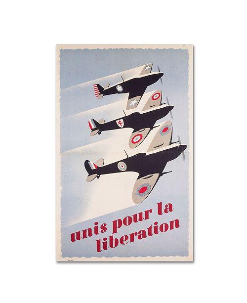 "Trademark Global 'Propaganda Poster for Liberation' Canvas Art - 47"" x 30"""