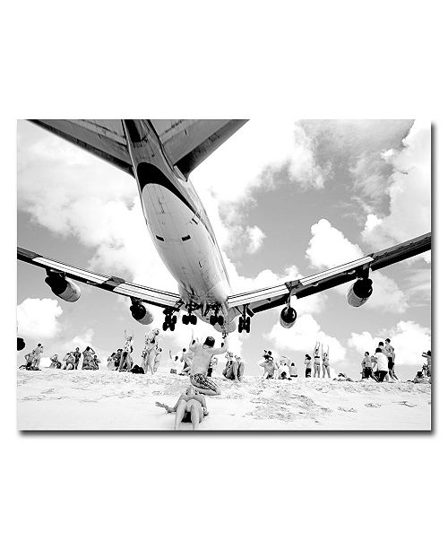 "Trademark Global Preston 'Airliner' Canvas Art - 32"" x 24"""