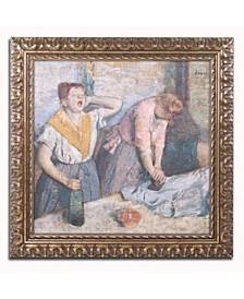 """Edgar Degas 'The Laundresses 1884' Ornate Framed Art - 16"""" x 16"""""""