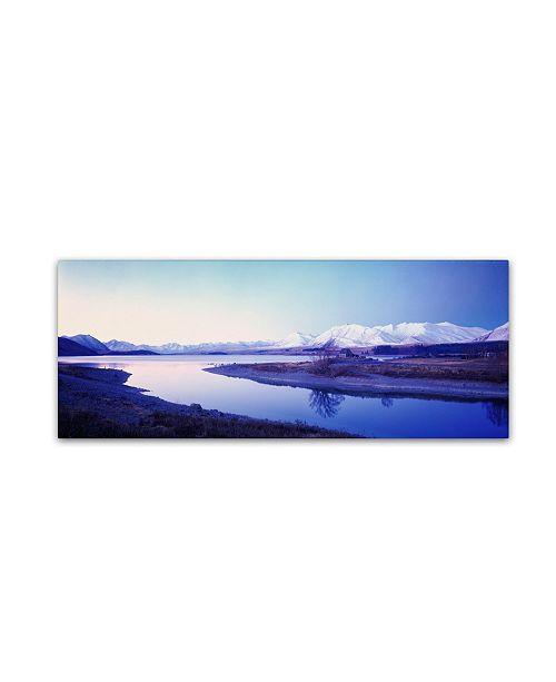 "Trademark Global David Evans 'Lake Tekapo Winter-NZ' Canvas Art - 24"" x 8"""