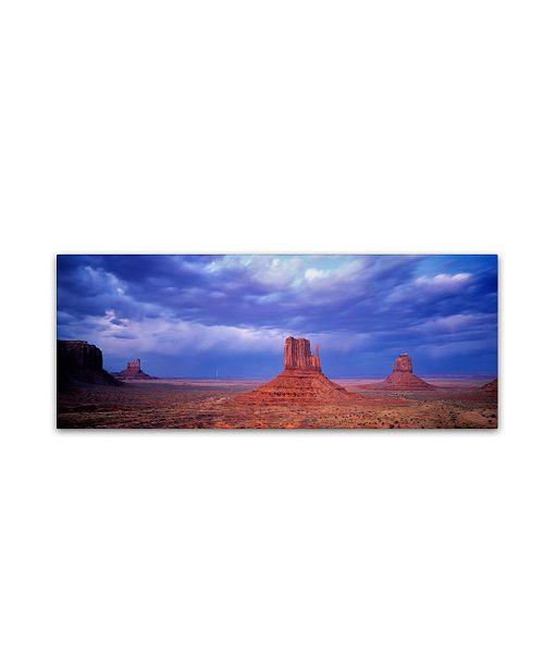 "Trademark Global David Evans 'Monument Valley' Canvas Art - 24"" x 8"""