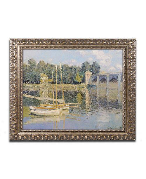 "Trademark Global Claude Monet 'The Bridge at Argenteuil' Ornate Framed Art - 16"" x 20"""