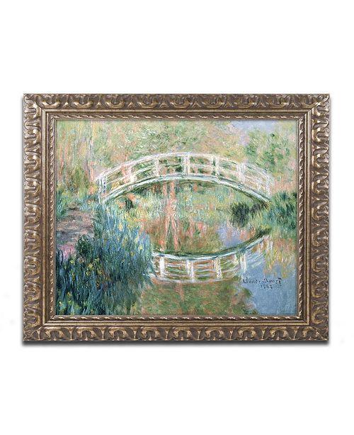 """Trademark Global Monet 'The Japanese Bridge Giverny' Ornate Framed Art - 16"""" x 20"""""""