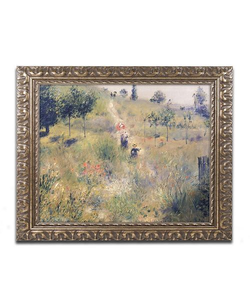 "Trademark Global Pierre Auguste Renoir 'The Path Through the Long Grass 1875' Ornate Framed Art - 16"" x 20"""