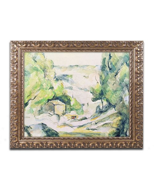 "Trademark Global Paul Cezanne 'Countryside in Provence' Ornate Framed Art - 16"" x 20"""