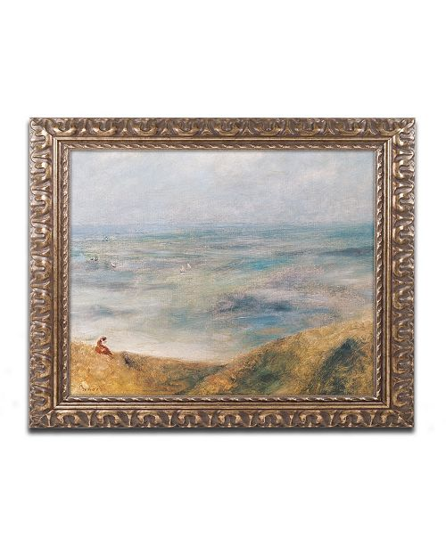 "Trademark Global Pierre Auguste Renoir 'View of the Sea Guernsey' Ornate Framed Art - 11"" x 14"""