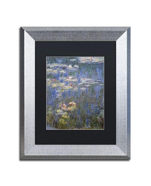 """Trademark Global Claude Monet 'Water Lilies IV 1840-1926' Matted Framed Art - 11"""" x 14"""""""
