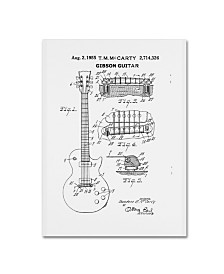 """Claire Doherty '1955 Mccarty Gibson Guitar Patent White' Canvas Art - 14"""" x 19"""""""