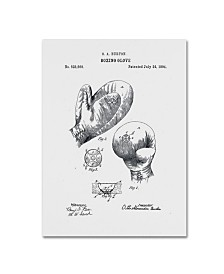 """Claire Doherty 'Boxing Gloves Patent 1894 White' Canvas Art - 14"""" x 19"""""""